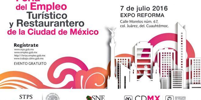 Feria del Empleo Turístico y Restaurantero en la Ciudad de México