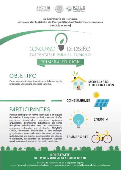 Cartel del Concurso de Diseño Sustentable para el Turismo