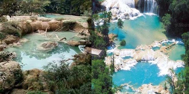 Se secan las cascadas de Agua Azul en Chiapas7