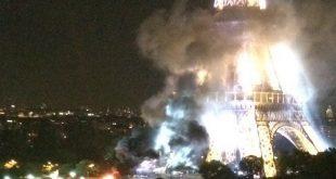 Incendio en la Torre Eiffel