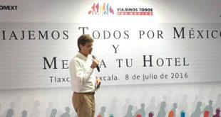 Secretario de Turismo Enrique de la Madrid en Tlaxcala