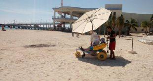 playa con turismo accesible
