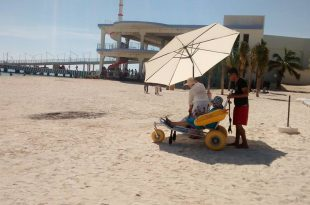 playa con turismo accesible