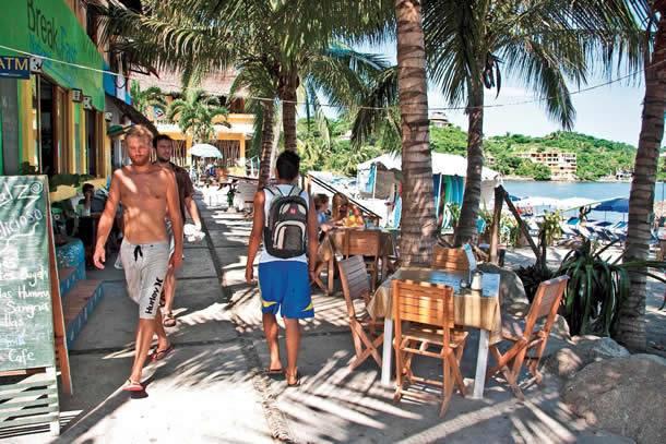 Turistas en San Pancho, Nayarit