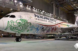 Aeronave de Aeroméxico bautizada con el nombre de Quetzalcóatl