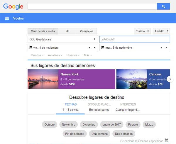 Google Flight portada
