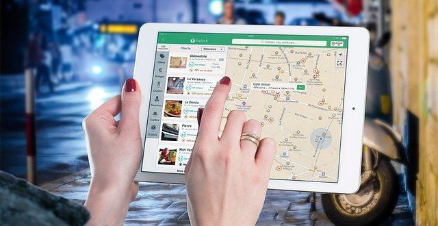 Mapa en una Ipad