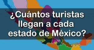 Cuántos turistas nacionales y extranjeros recibe cada estado de la República Mexicana