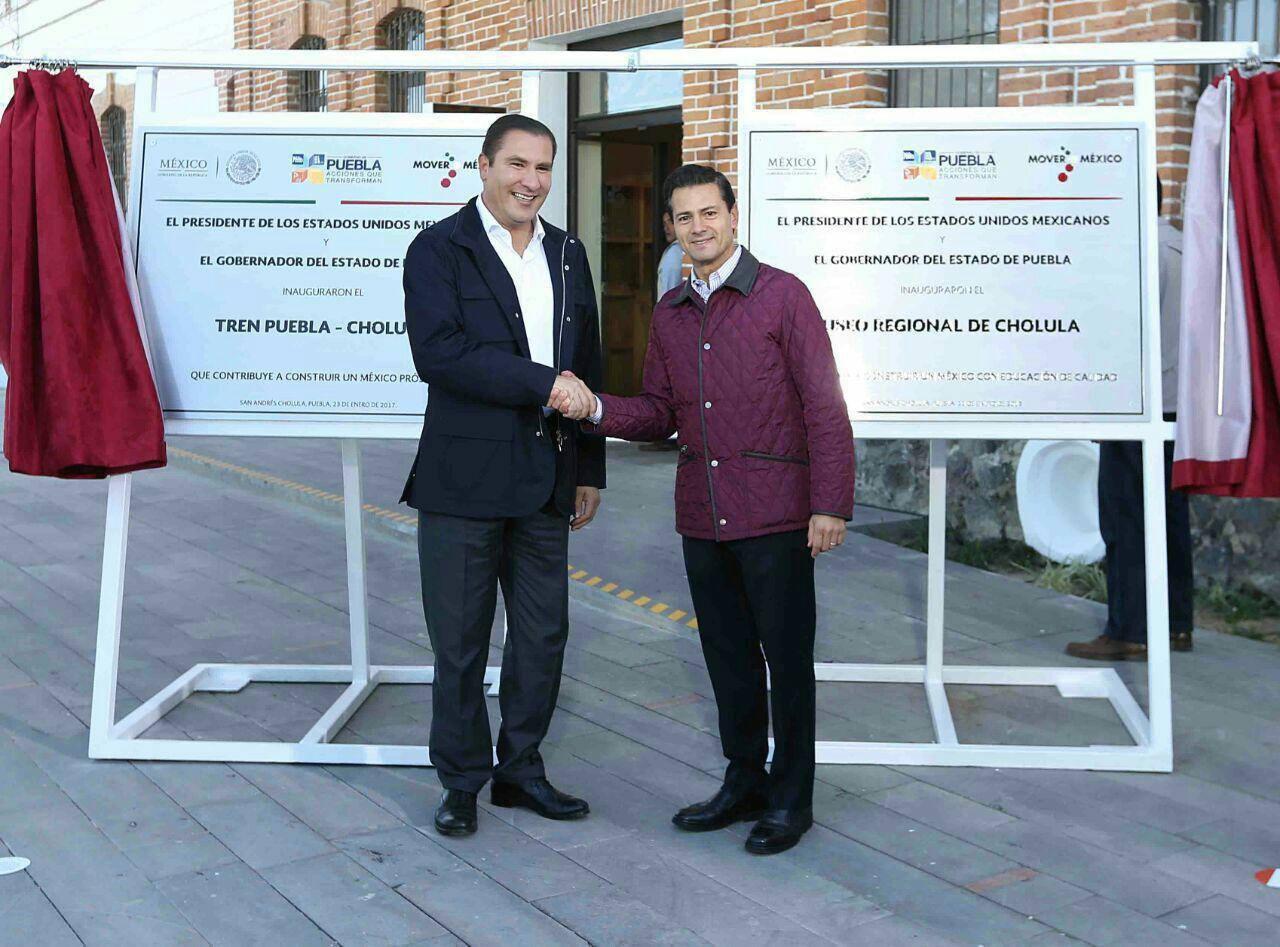 Inauguración tren turístico Puebla-Cholula