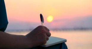 Escribiendo bajo el sol