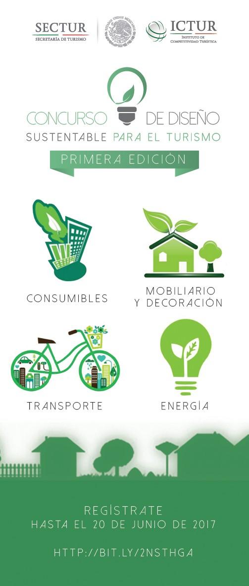 Banner del Concurso de Diseño Sustentable para el Turismo
