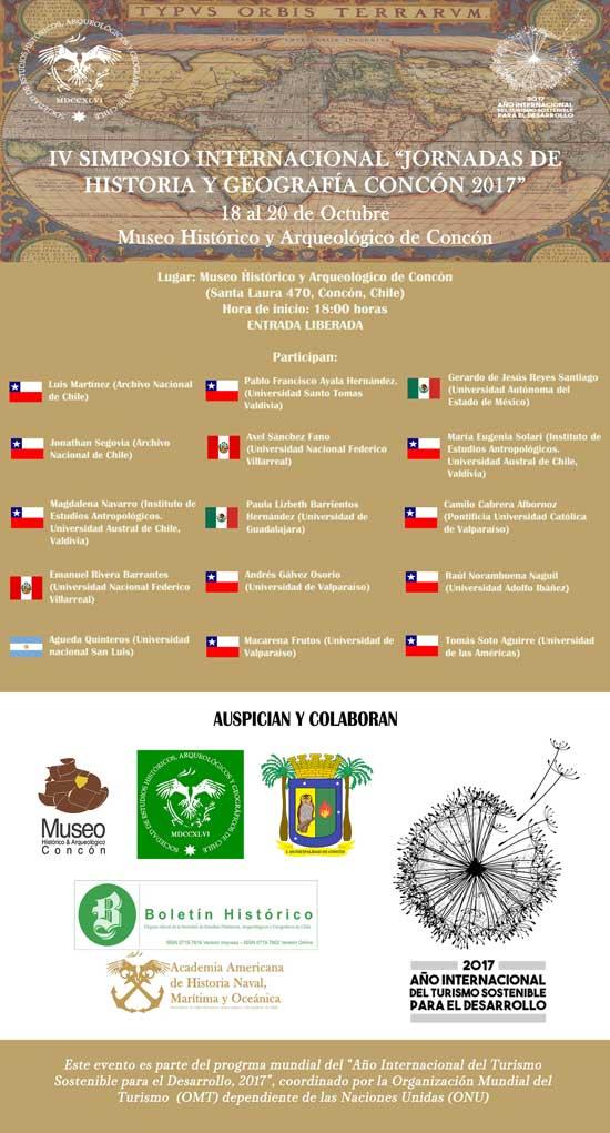 """Cartel-del-Simposio-Internacional-""""IV-Jornadas-de-Historia-y-Geografía"""