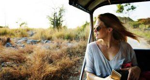 Mujer Viajero verde