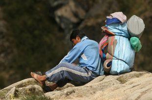 Porteadores del camino Inca