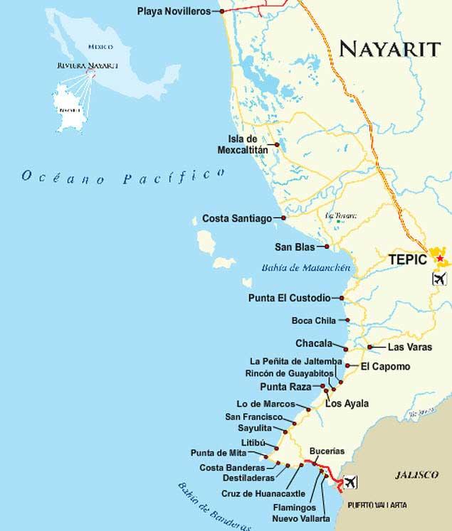 playas de la riviera nayarit