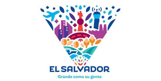 Logotipo y slogan del Salvador turismo