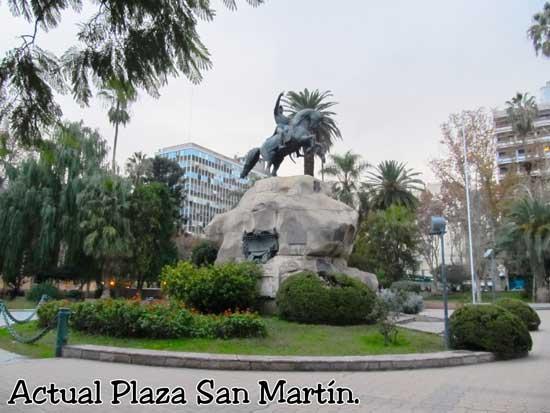 Actual Plaza San Martín en Mendoza Argentina