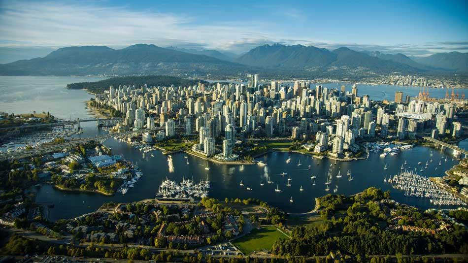 Foto aérea de Vancouver