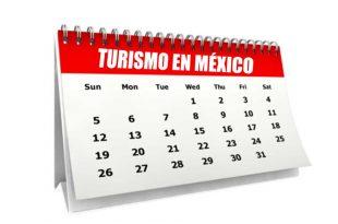 Calendario de fechas importantes del turismo en México