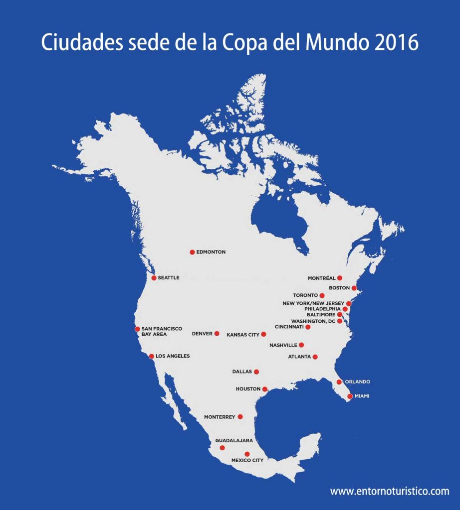 Ciudades sede de la copa del mundo 2026