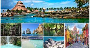 Diferentes destinos turísticos de México