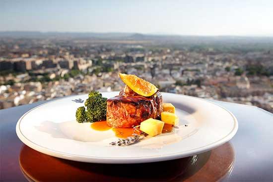 Hotel Alhambra Palace comida