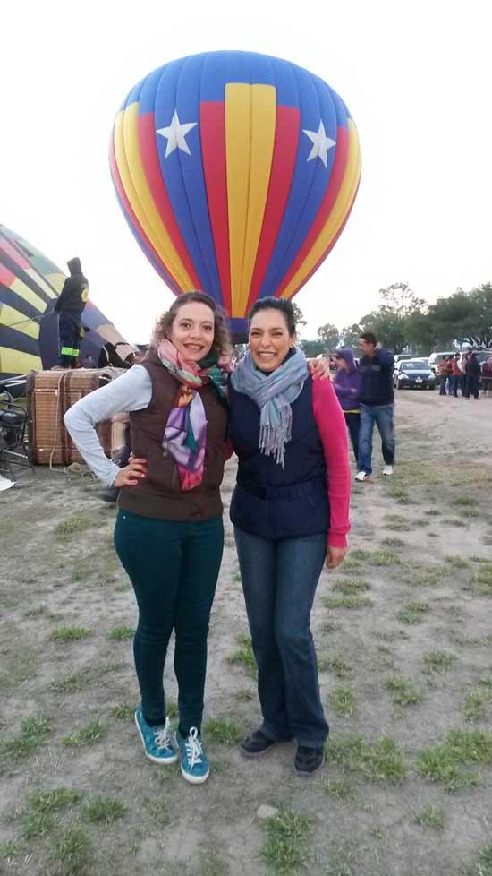 Irene y su hija viaje en globo