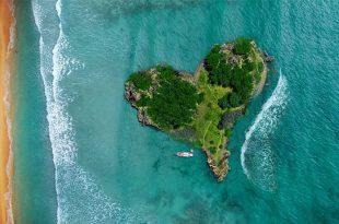 Turismo sustentable, Isla en forma de corazón