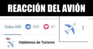 reacción del avión facebook