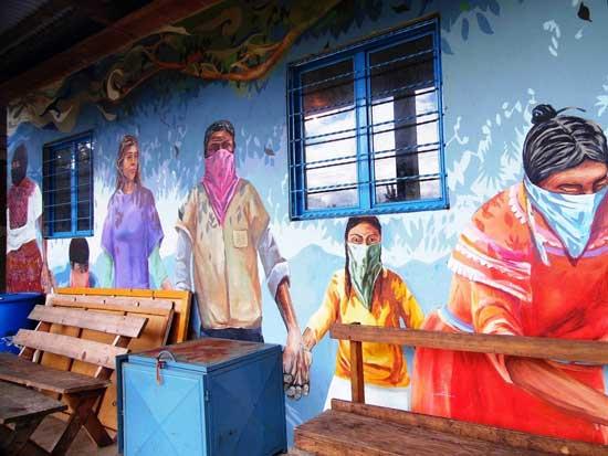 Mural en Caracol Morelia