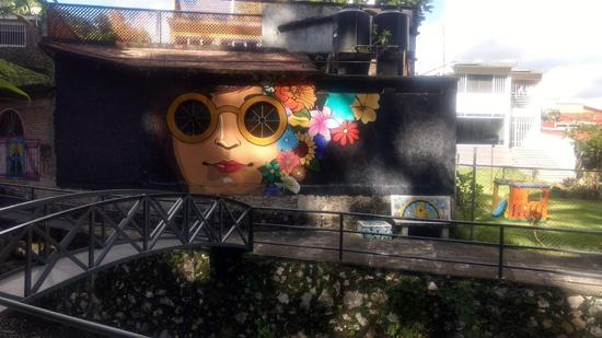 Mural en el hotel Comfot Inn Córdoba