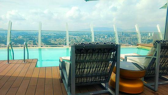 Piscina del hard rock hotel Guadalajara