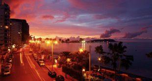 Salinas en Ecuador al atardecer