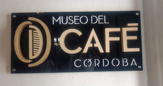 placa del museo del café en Cordoba