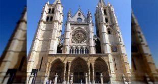 Fachada de la Catedral de León, España