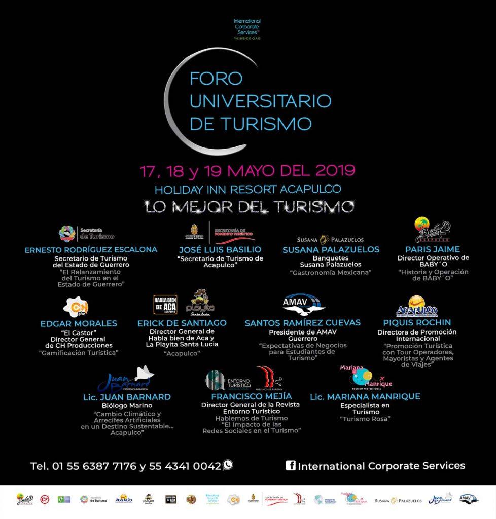Cartel Foro Universitario de Turismo