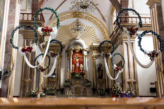 Interior del Señor de la Misericordia en Ocotlán