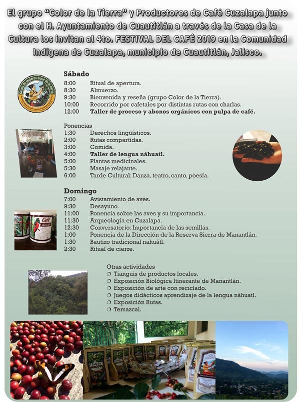 Programa Festival del Café Cuzalapa 2019