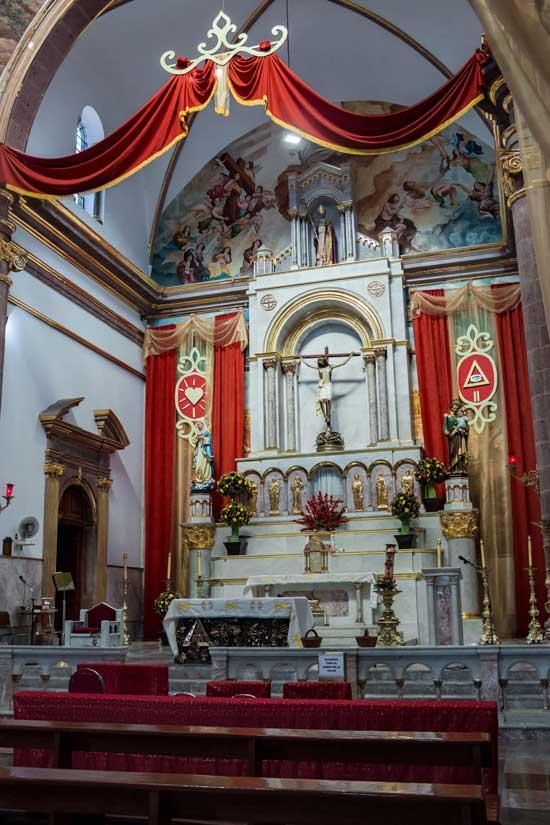 Interior de la Parroquia de San Agustín