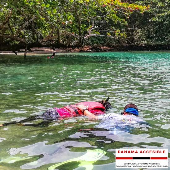 Snorkeling adaptado en Portobelo