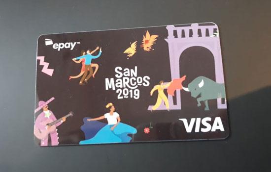 Tarjetas de prepago San Marcos 2019