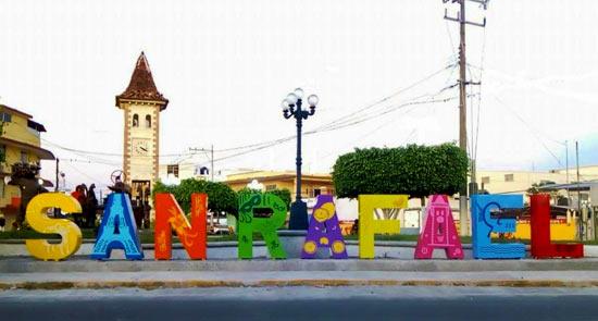 Letras monumentales en San Rafael Veracruz