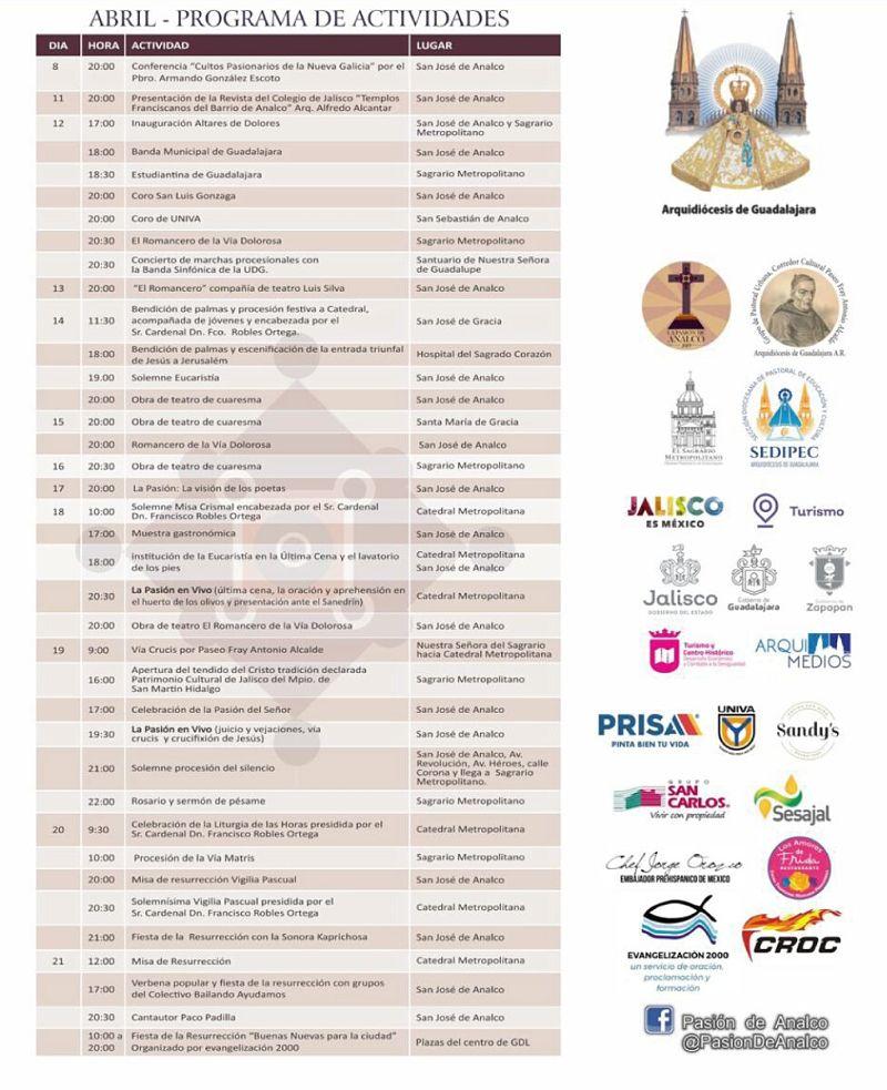 Programa de actividades de la Judea GDL