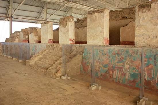 Zona Arqueologica de cacaxtla mural de la batalla tlaxcala