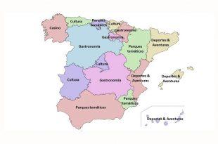 mapa de los tipos de turismo en españa