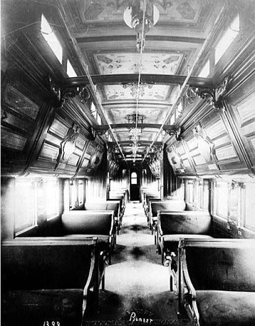 Interior del vagón Pioneer