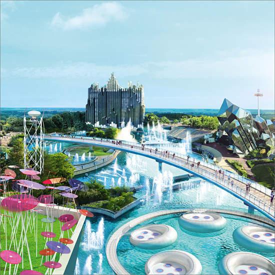 futuroscope vista edificios