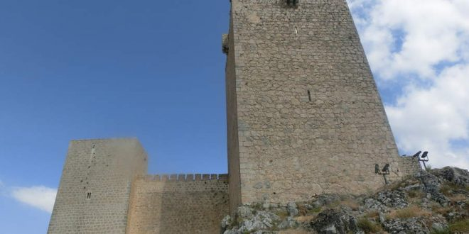 Jaén Castillo de Sta Catalina arriba en Andalucía