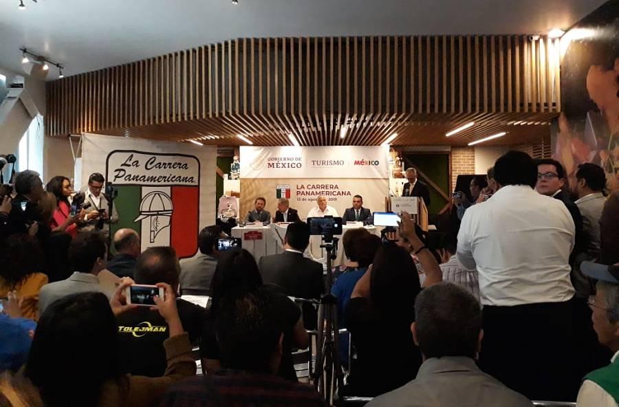 Conferencia de prensa de la Carrera Panamericana México 2019