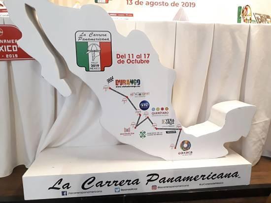 Mapa de la Carrera Panamericana México 2019
